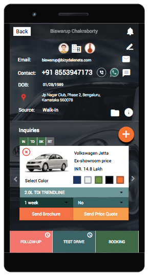 An image showing Android Mobile App Development profile screen.