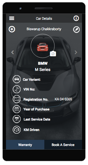 An image showing Android Mobile App Development Car screen.